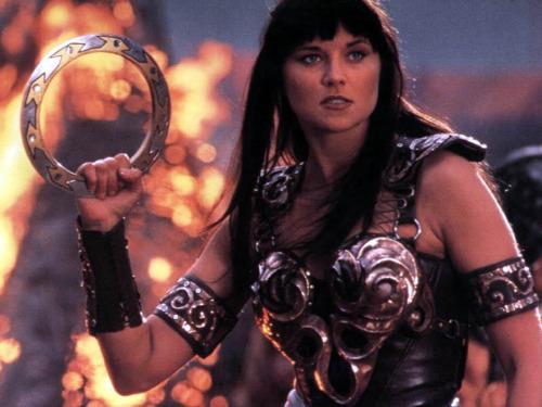 Xena la princesa guerrera Xena: la princesa guerrera luchadora hasta fuera de la pequeña pantalla