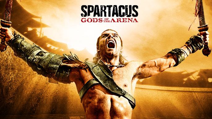 Cartel de Spartacus dioses de la arena la serie que estrena Cuatro. Spartacus: Venganza 3x08, 3x09 y 3x10 [Desenlace de temporada]