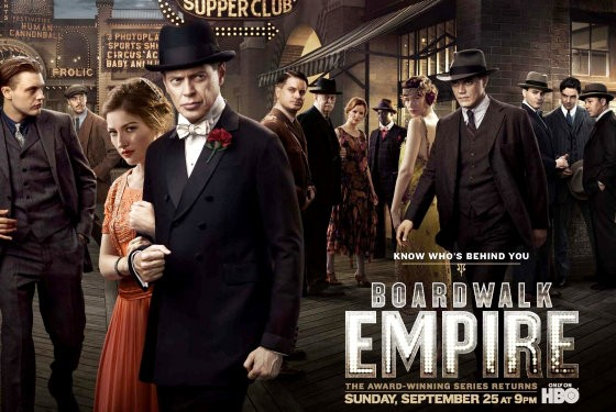 Cartel de Boardwalk Empire serie protagonizada por Terence Winter. Confirmada la cuarta temporada de Boardwalk Empire