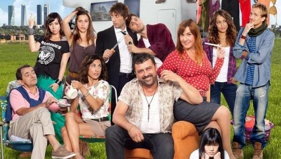 Parte del elenco de la comedia de Antena 3, 'Con el culo al aire'