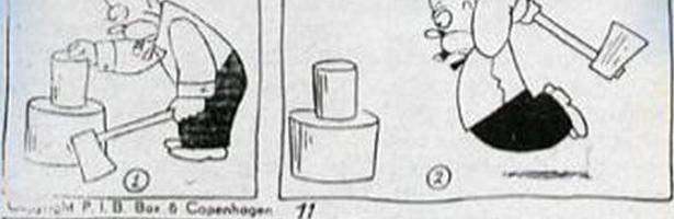 Personaje de la viñeta islandesa de hace 63 años