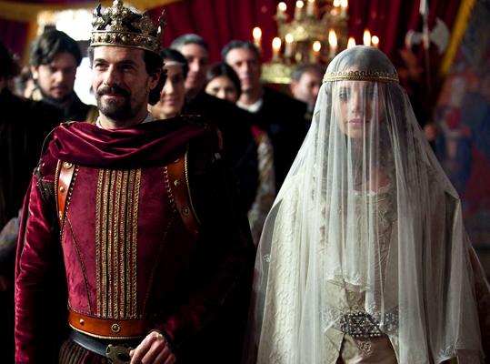 Escena de Isabel y Fernando en su boda real. Histórica boda real, este lunes en Isabel