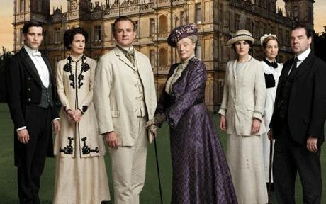 Algunos de los int%C3%A9rpretes de la serie Downton Abbey que se emite esta noche. Crisis financiera y un parto, esta noche en Dowton Abbey