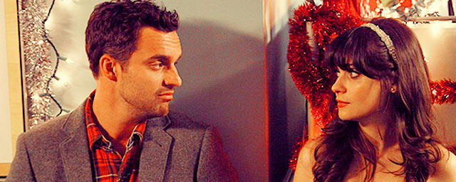 Jake Johnson y Zooey Deschanel en 'New Girl'.