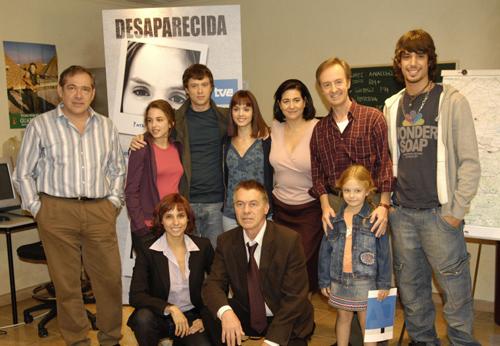 El elenco principal de la serie de TVE, 'Desaparecida'.