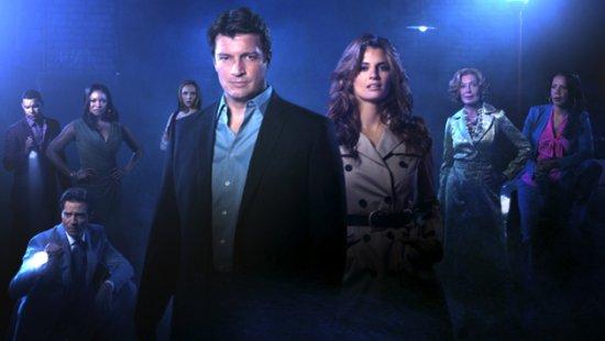 Parte del reparto que encabeza la serie Castle de Cuatro. Castle 5x23: El factor humano