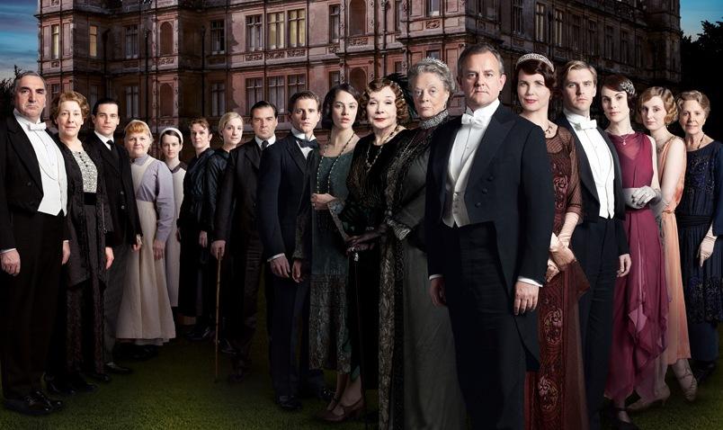 Algunos de los protagonistas de Dowton Abbey.