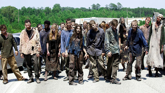 Zombies de Walking Dead