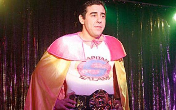 Amador Rivas disfrazado de Capitán Salami