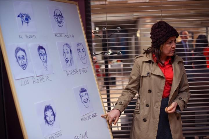 María Pujalte en una escena del capítulo de 'Los misterios de Laura'.