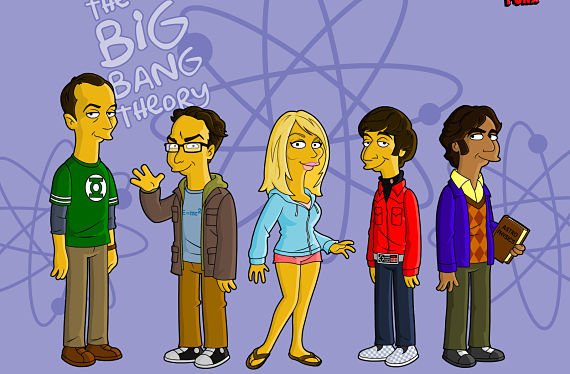 Big Bang Theory en modo Simpsons