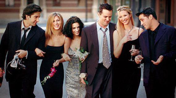 Los seis protagonistas de la serie Friends