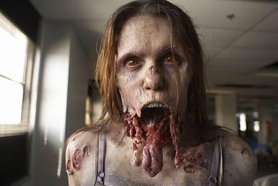 Mujer Zombi en The Walking Dead