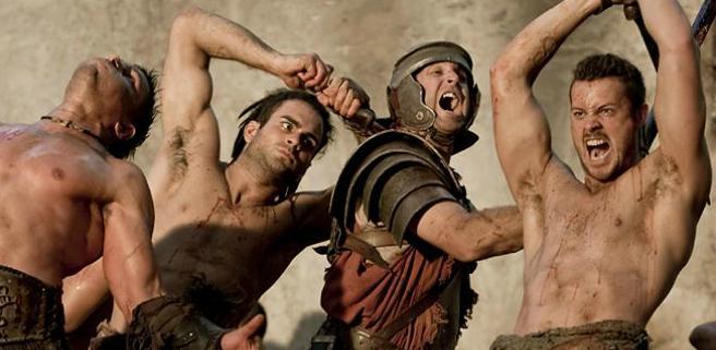 Escena de una lucha en 'Spartacus: Sangre y arena'.