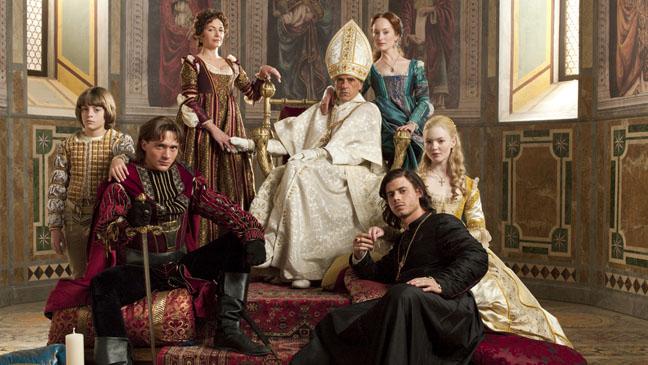 Algunos de los protagonistas de la serie de época 'Los Borgia'.
